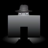 Esquema del mal del Internet Imagen de archivo