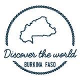 Esquema del mapa de Burkina Faso El vintage descubre Imagen de archivo libre de regalías