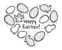 Esquema del negro del pan de jengibre de Pascua libre illustration