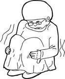 Esquema del niño de temblor stock de ilustración