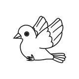 Esquema del pájaro de vuelo (aliste para encaramarse) Imagen de archivo
