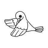 Esquema del pájaro de vuelo (molde abajo) Foto de archivo