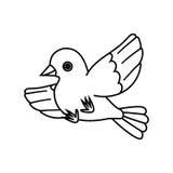 Esquema del pájaro de vuelo (saque) 2 stock de ilustración