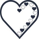 Esquema del vector del corazón y lleno libre illustration