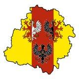 Esquema del voivodship de Lodzkie Foto de archivo