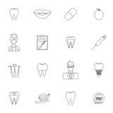 Esquema dental de los iconos Fotos de archivo