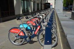 Esquema do aluguer do ciclo de Londres Fotos de Stock