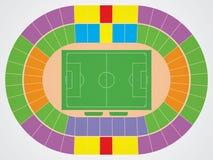 Esquema do estádio de futebol Imagem de Stock Royalty Free