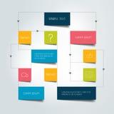 Esquema do fluxograma Elementos de Infographics Imagens de Stock Royalty Free