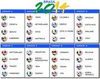 Esquema do jogo de Brasil 2014 Imagens de Stock