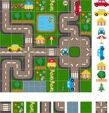 Esquema do mapa das ruas Imagens de Stock Royalty Free
