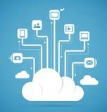 Esquema do sumário da tecnologia informática da nuvem Fotografia de Stock