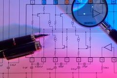 Esquema eléctrico Imagen de archivo libre de regalías