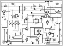Esquema eléctrico - fondo del vector Foto de archivo libre de regalías