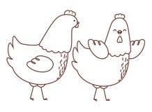 Esquema feliz de los animales del campo ilustración del vector