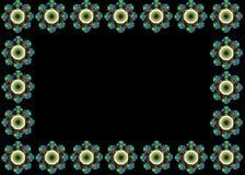 Esquema hermoso del marco contra fondo negro Imagenes de archivo