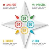 Esquema infographic do negócio na forma da estrela no branco ilustração stock