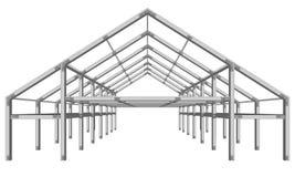 Esquema largo do projeto imobiliário da armação de aço isolado no branco ilustração royalty free