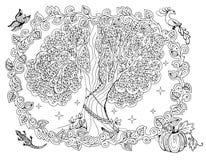 Esquema mágico del árbol Imagen de archivo libre de regalías