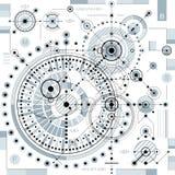 Esquema mecánico, dibujo de ingeniería del vector con par geométrico ilustración del vector