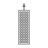 esquema moderno del rascacielos de la arquitectura del edificio ilustración del vector