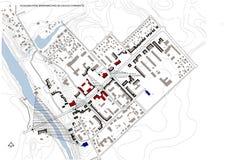 Esquema, 2.o, pequeña ciudad Fotografía de archivo