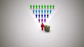 Esquema: Renta del distribuidor en el márketing de la red ilustración del vector