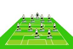 Esquema táctico de las personas de fútbol. Foto de archivo libre de regalías