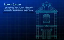 Esquema tailandés de la construcción histórica ilustración del vector