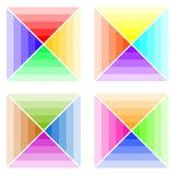 Esquemas de cores, uma paleta das cores ilustração do vetor