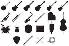 Esquemas de los instrumentos fijados Fotos de archivo