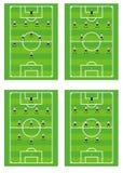 Esquemas tácticos de las personas de fútbol. Imagen de archivo