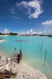 Esquerda do cano principal do caulim, ilha 5 de Belitung Imagens de Stock Royalty Free