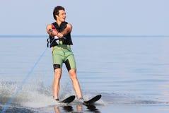 Esqui aquático do atleta Imagem de Stock Royalty Free