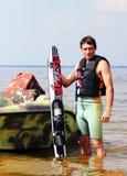 Esqui aquático do atleta Fotografia de Stock Royalty Free
