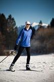Esqui através dos campos fotos de stock royalty free