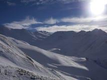 Esqui caminhando a paisagem Fotos de Stock Royalty Free