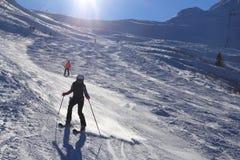 Esqui de Áustria fotografia de stock