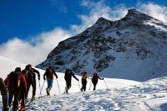 Esqui de Backcountry Fotografia de Stock