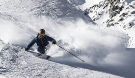 Esqui de Freeride Imagem de Stock