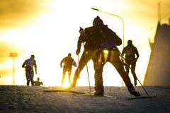 Esqui de patinagem de formação Imagens de Stock
