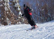 Esqui do homem Imagem de Stock Royalty Free