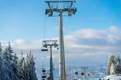 Esqui do inverno Fotografia de Stock