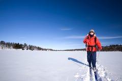 Esqui do país transversal Foto de Stock Royalty Free