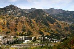 Esqui do Snowbird e recurso de verão imagens de stock royalty free