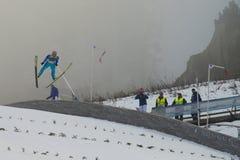 Esqui do WC que voa Vikersund (Noruega) o 14 de fevereiro de 2015 Fotos de Stock