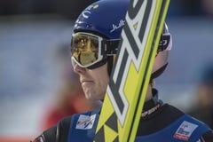 Esqui do WC que voa Vikersund (Noruega) o 14 de fevereiro de 2015 (da ?a metade Imagem de Stock Royalty Free