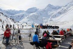 Esqui dos apres de Ski Amade imagens de stock royalty free