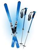Esqui e varas do esqui Foto de Stock Royalty Free