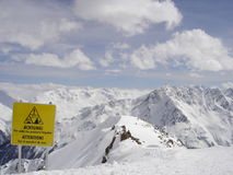 Esqui em cumes franceses Fotos de Stock